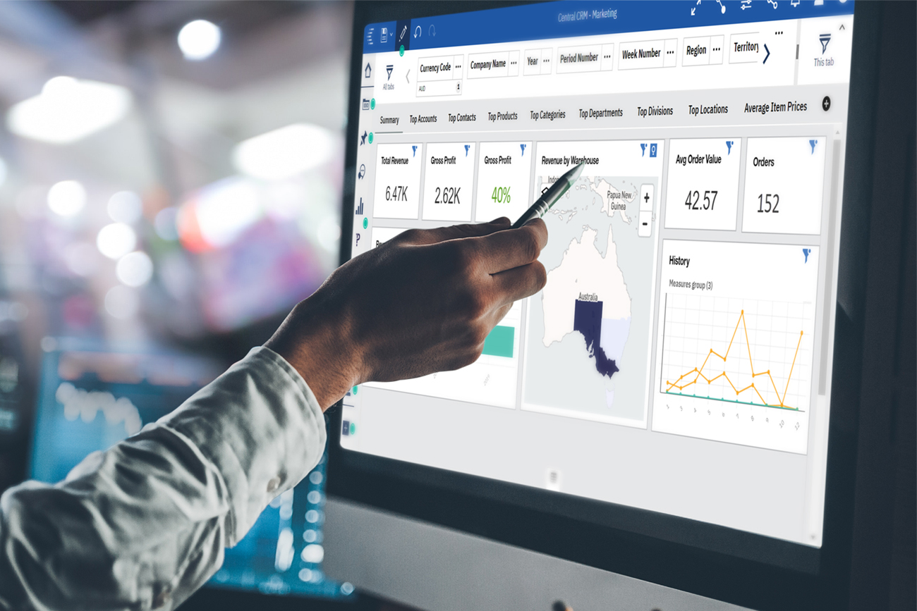 Pronto Xi business intelligence allows teams to analyse their data faster, producing stunning dashboards that are easy to create and customise, giving a powerful view across the business.