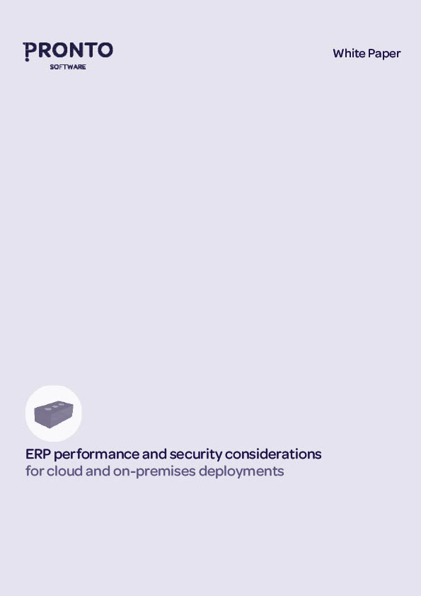 ERP performance and security considerations for cloud and on-premises deployments White Paper