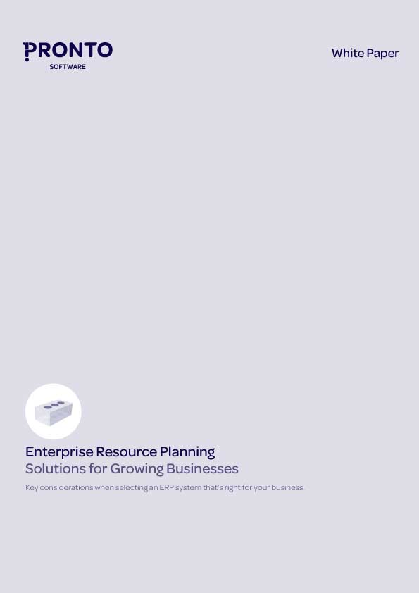 Enterprise Resource Planning: Solutions for growing businesses White Paper