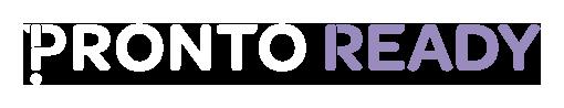 Pronto Ready reversed logo