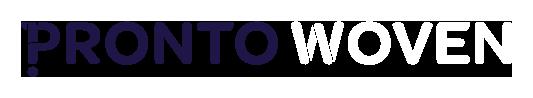 Pronto Woven reversed logo